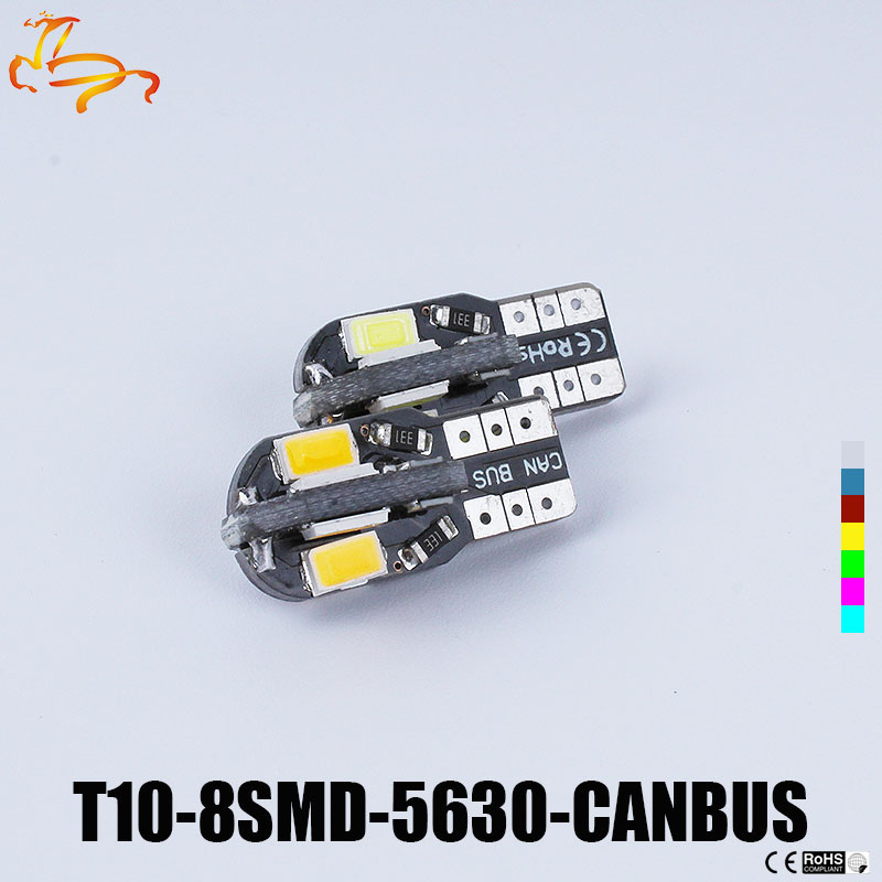 Groothandel NIEUWE 10 stks/partij gizleyicileri Canbus T10 8smd 5630 5730 LED oto licht Canbus GEEN OBC FOUT T10 W5W 194 SMD Led Ampul