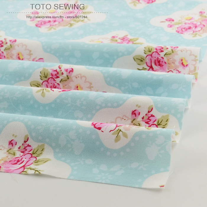 50cmx160cm/piece pretty vintage rose cotton fabric patchwork quilting clothing tecido dress sewing bedding home textile tilda