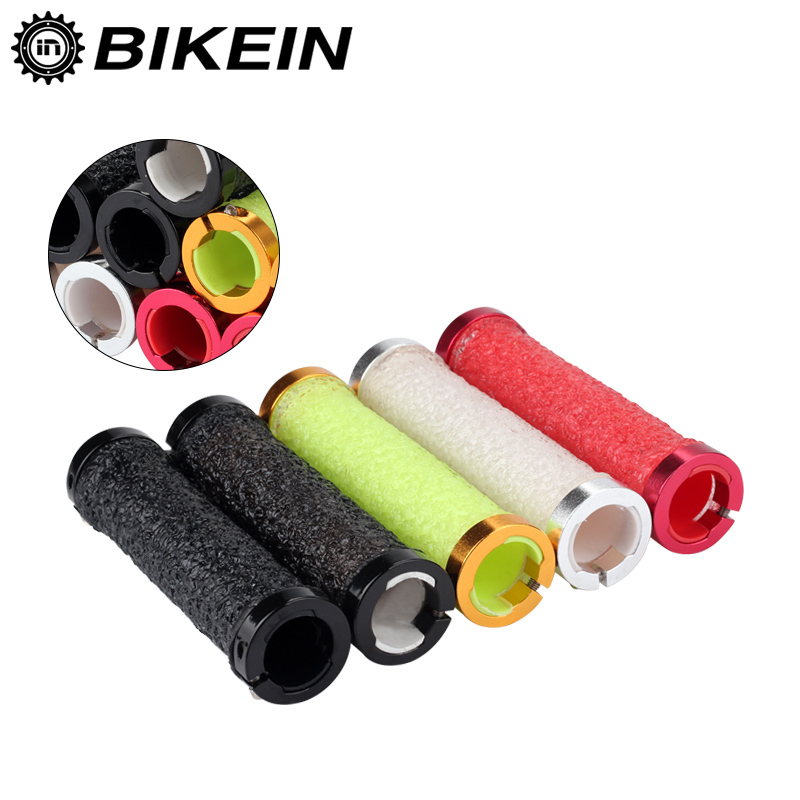 BIKEIN Cycling Mountain Bike Soft Non-Slip Handlebar Grips Ends Ultralight Silicone Sponge MTB Grip Bicycle Parts 117g 5 Colors