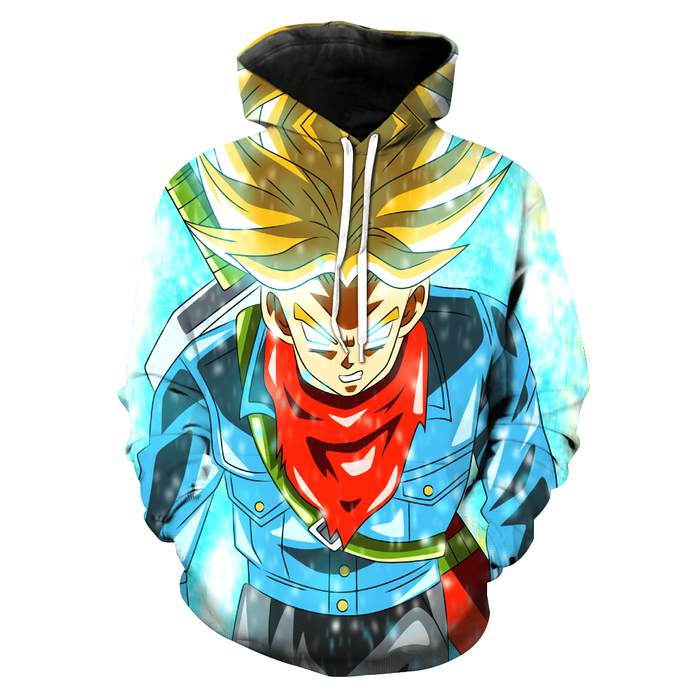 Vegetto Mavi Dragon Ball Z Hoodies 3d Hoodies Kazaklar Spor Kapüşonlu Sweatshirt Mens Kollu Hoode Dragon Ball Z Goku Oğlu