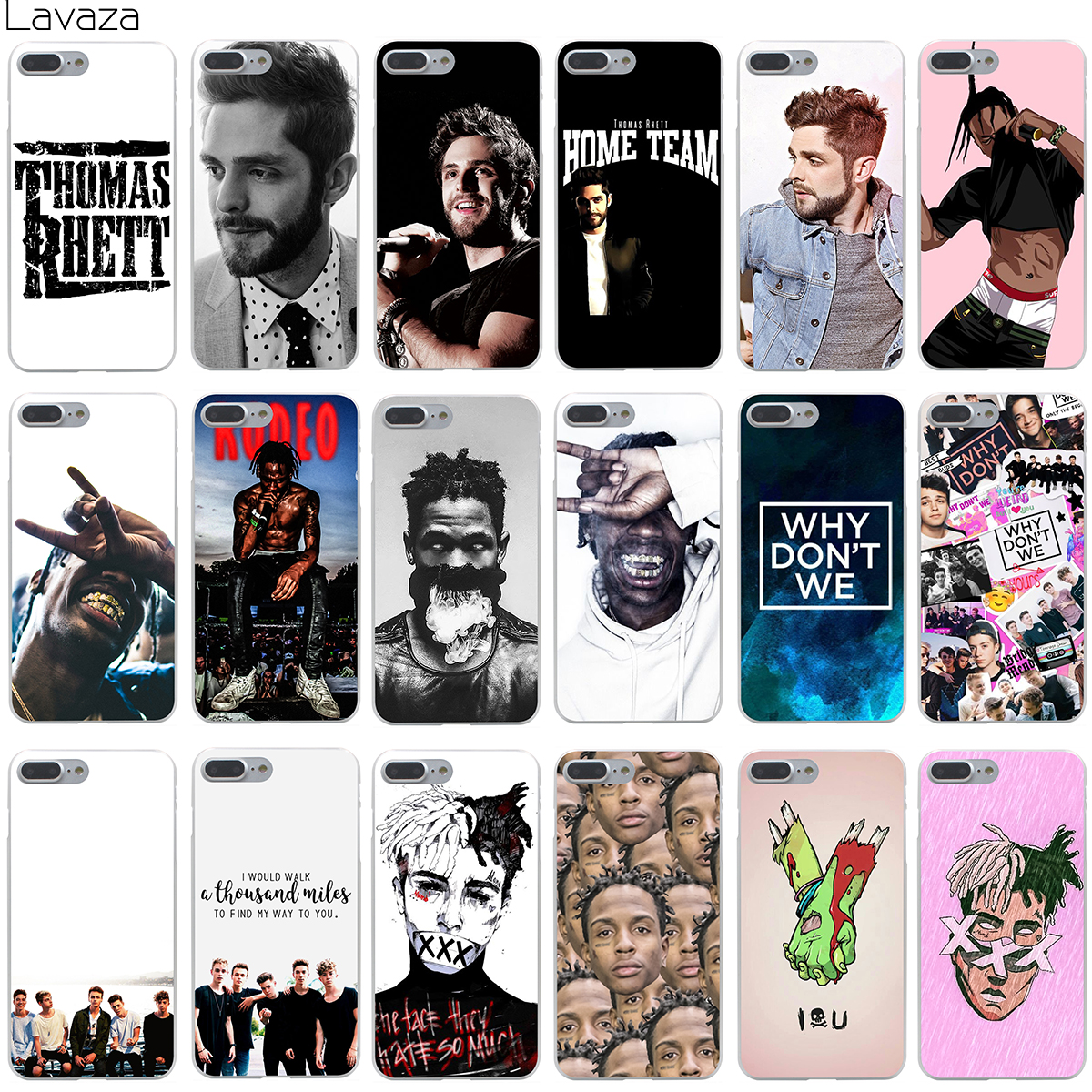 Lavaza Thomas Rhett Travis Scott Neden XXXTentacion Kapak Kılıf Apple iphone 8 7 Artı