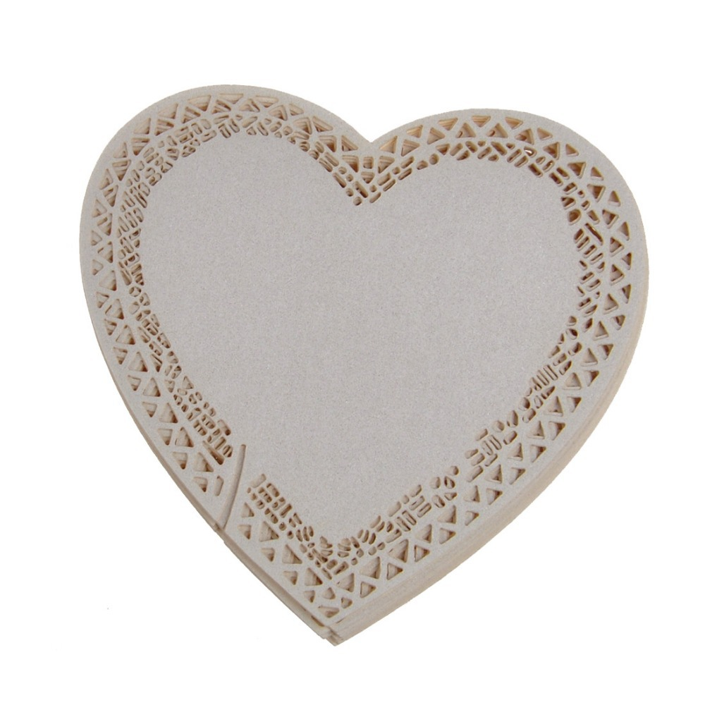 120PCS Ivory Laser Cut Paper Place Card/ Table Card/ Seats Card Holder Love heart for Party Wedding Favors and gifts Decoration