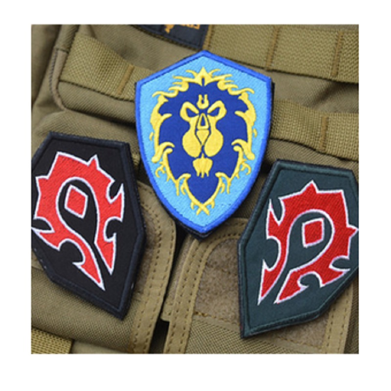 3D embroidery armband WOW World Alliance / Horde forces camp -sided embroidery patch badge armband morale tactical patches
