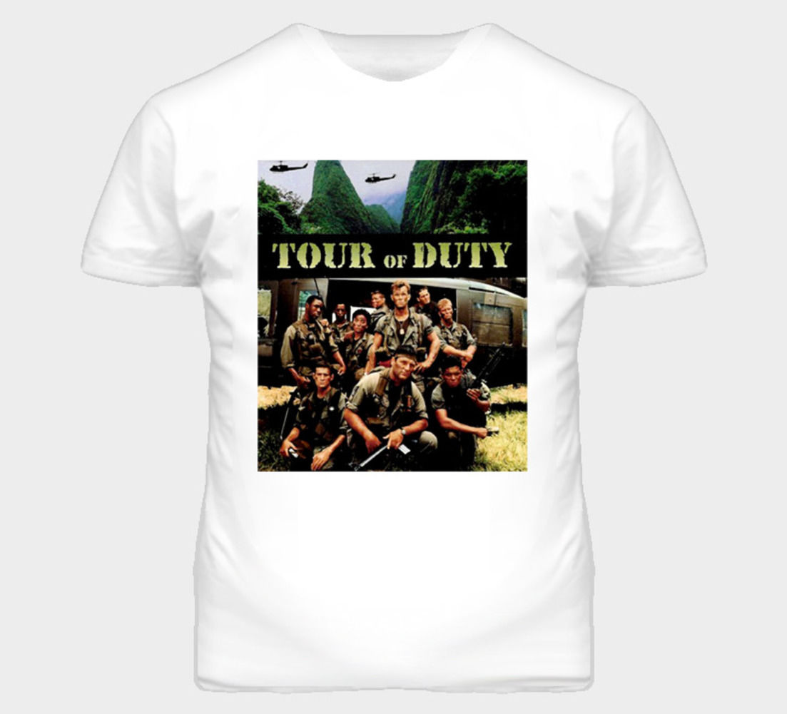Gildan Tour Of Duty 80 s TV Show T Gömlek