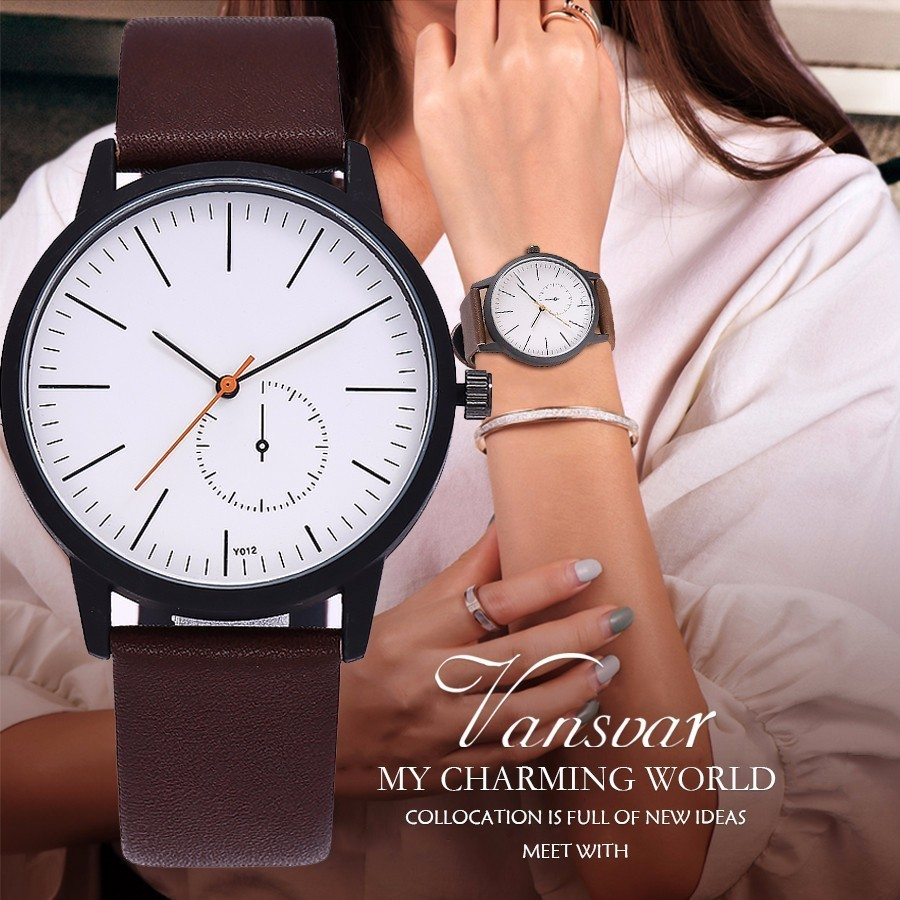 New Fashion Unisex Women Men Simple Design Wristwatches High Quality Leather Strap Quartz Watches Relogio Feminino Hot